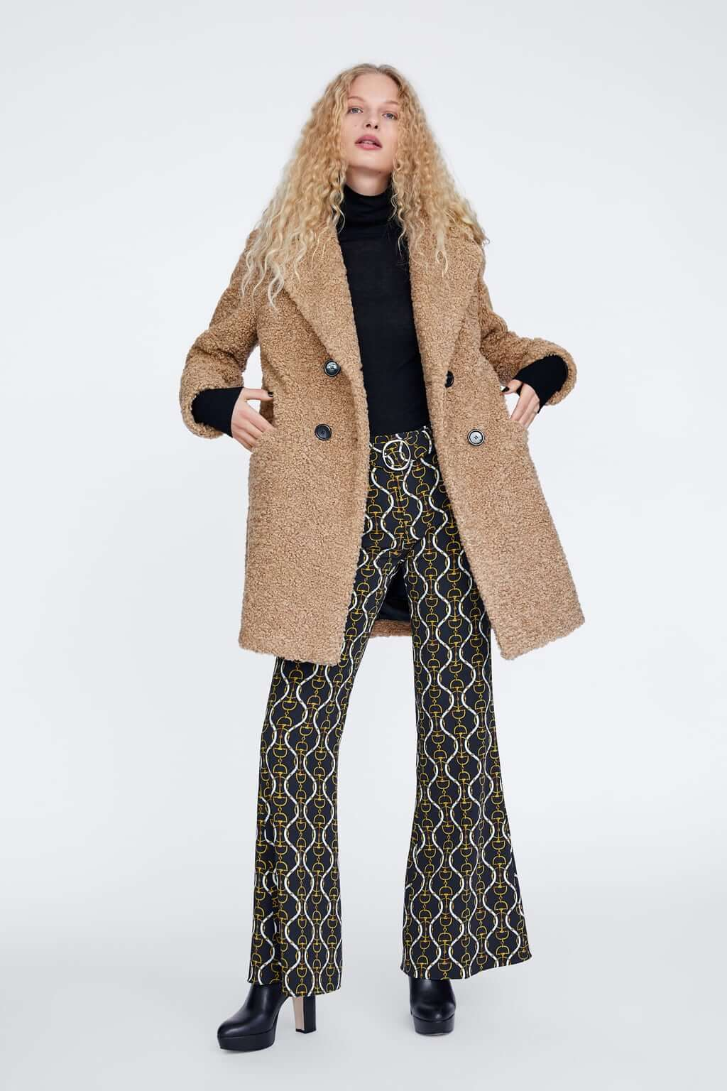 Abrigo de borreguillo marrón