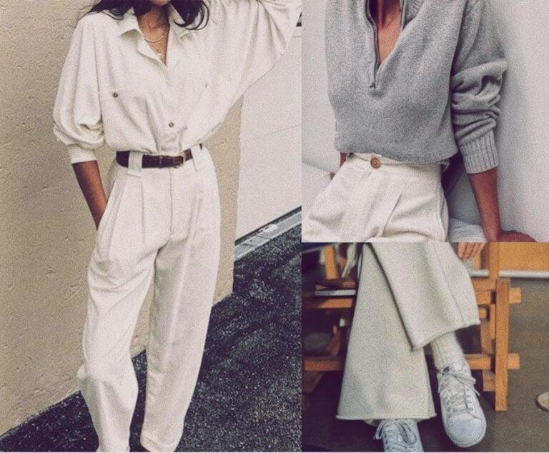 3 ideas de looks con pantalón blanco