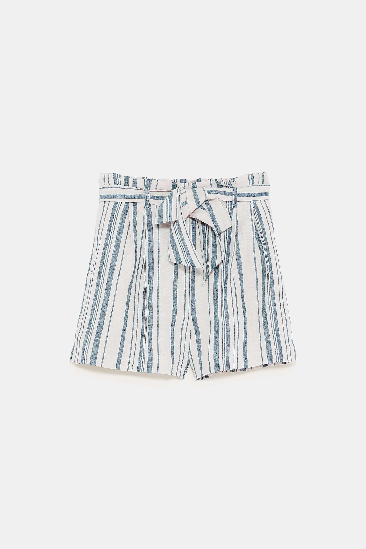 Short de rayas azules, de Zara