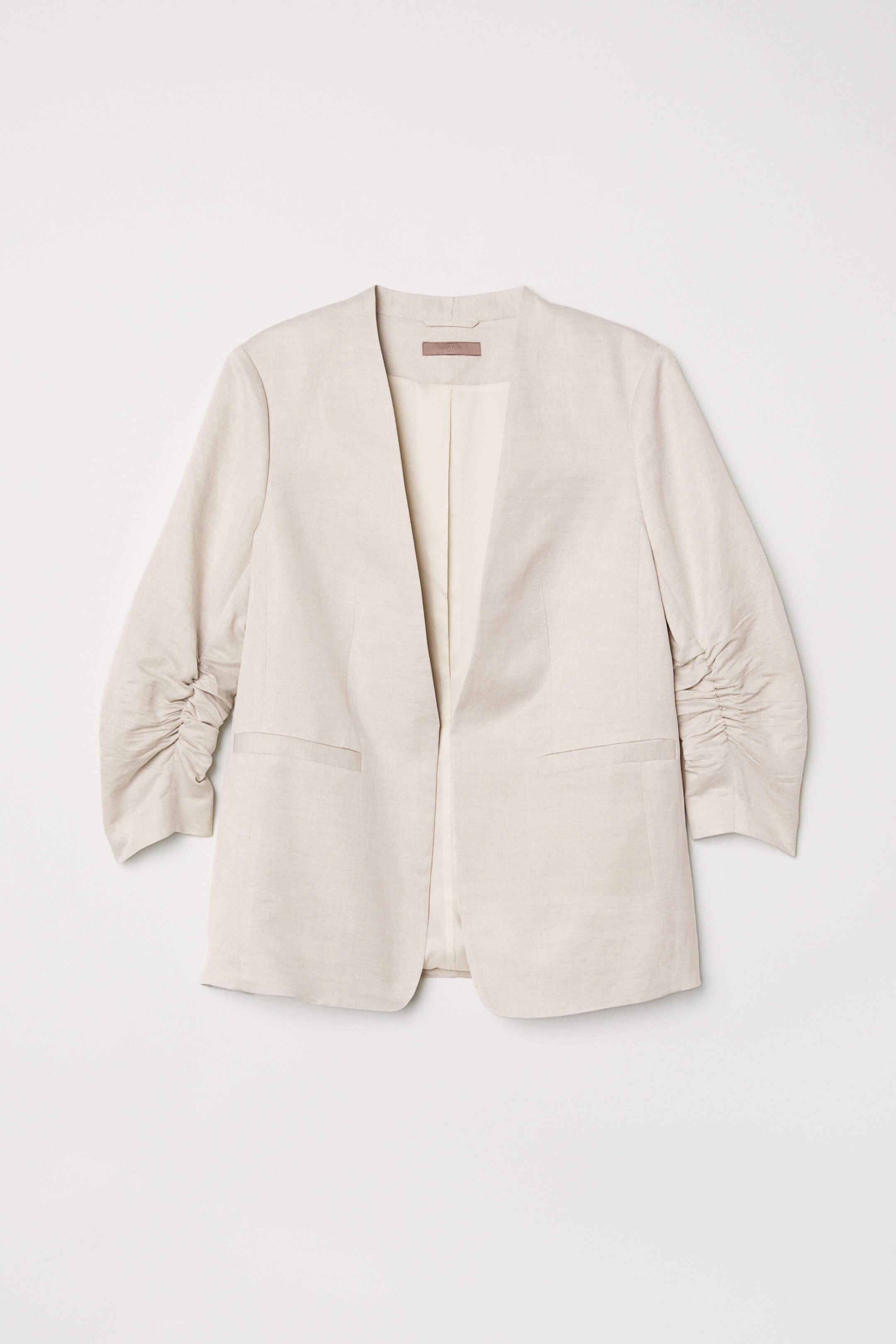 Americana de lino blanco, H&M