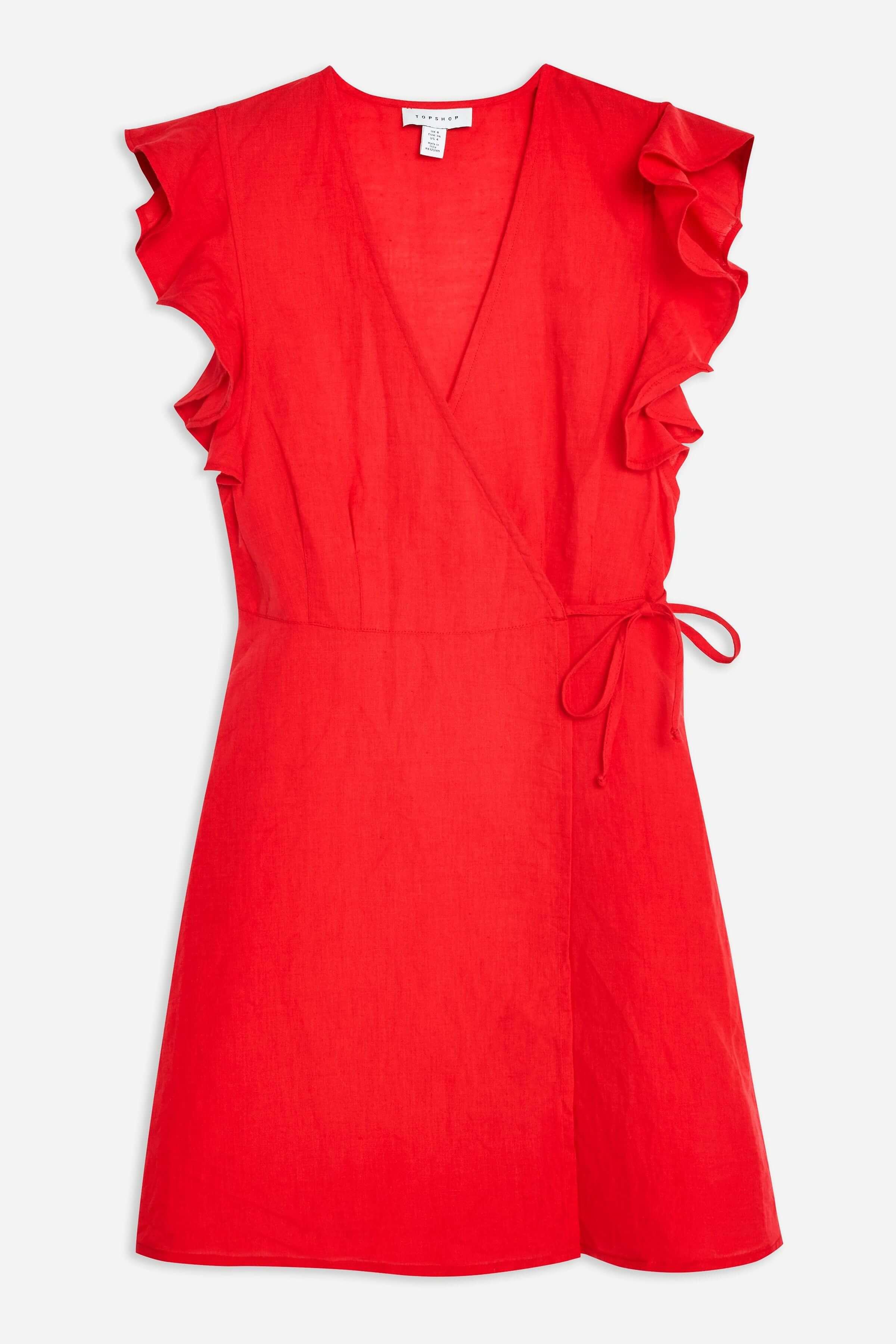 Vestido rojo de Topshop