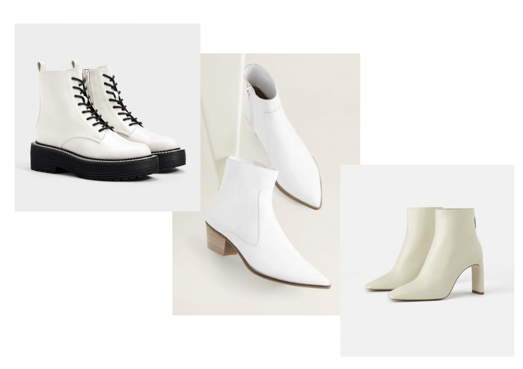 Shopping botines blancos.
