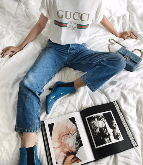 Camiseta logomanía Gucci