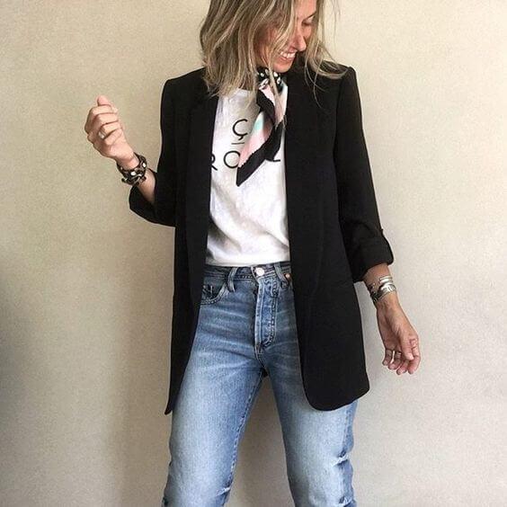 Cómo combinar una blazer negra: ideas originales