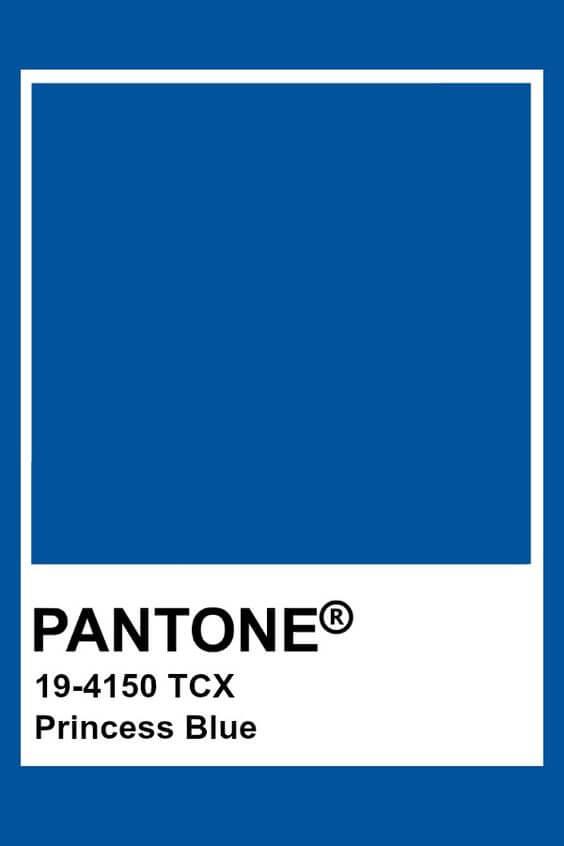 El Princess blue pantone es otro de los colores del 2019.