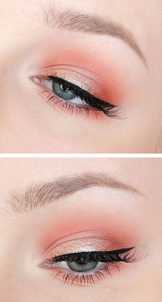 Maquillaje en color Living Coral.