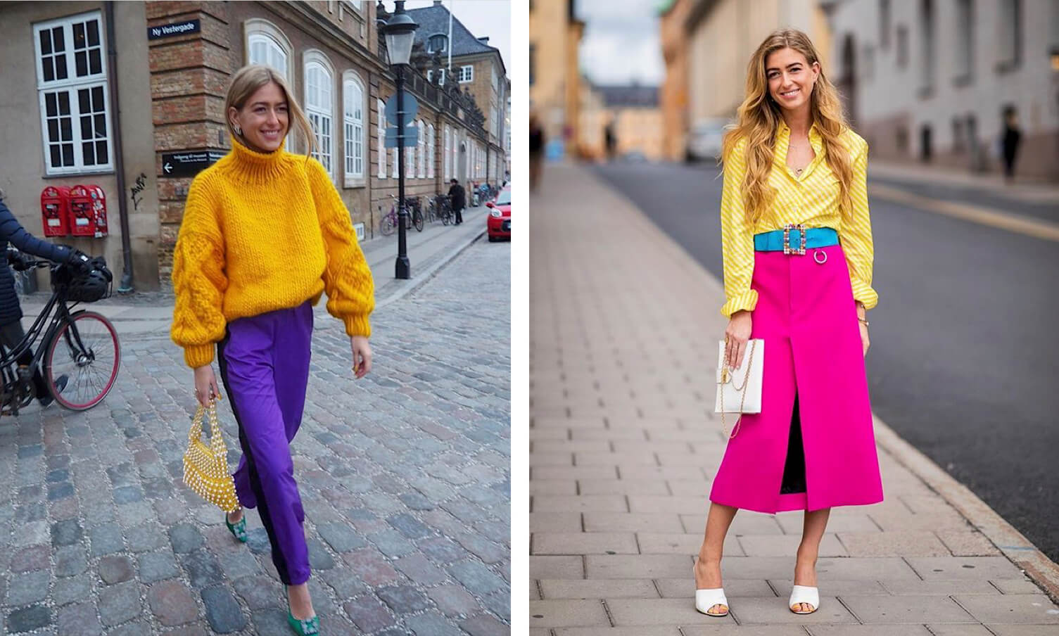 Emili Sindlev outfits coloridos