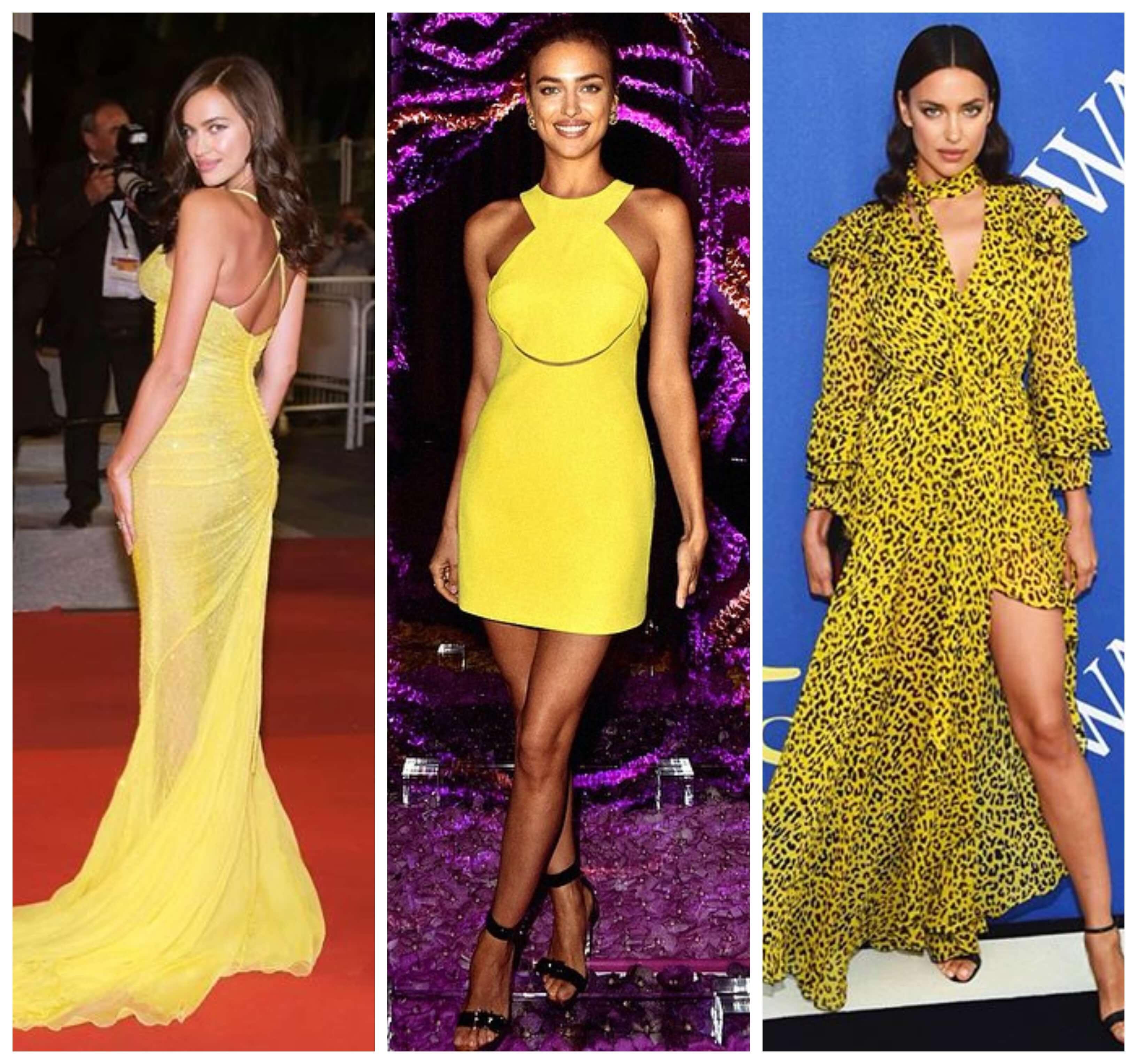 La supermodelo rusa con vestidos amarillos.