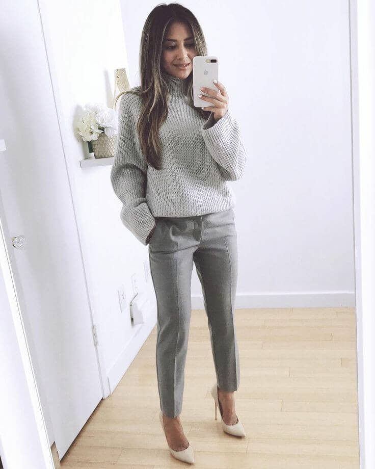 Total grey look.