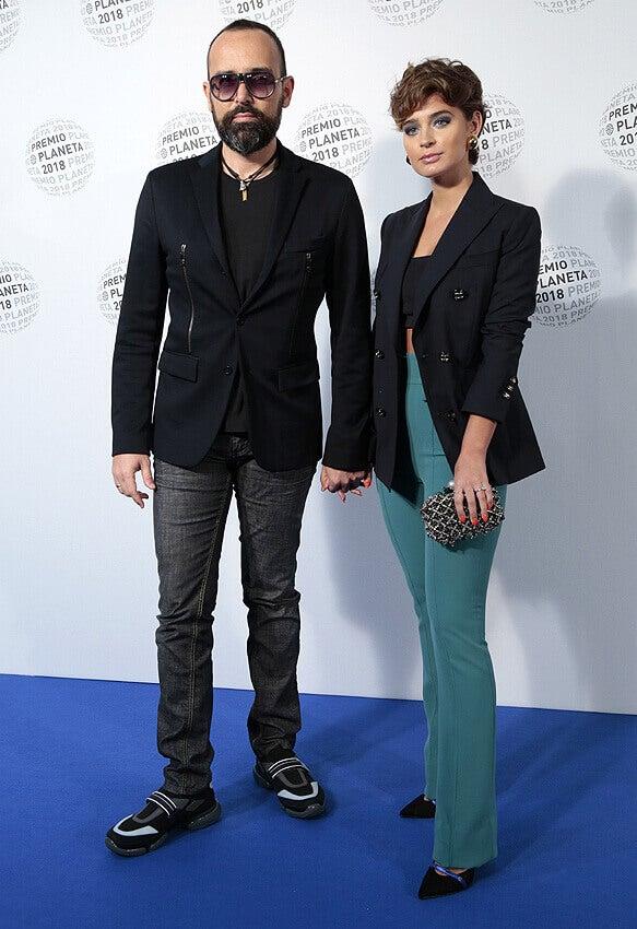 Laura Escanes con Risto Mejide en los Premios Planeta