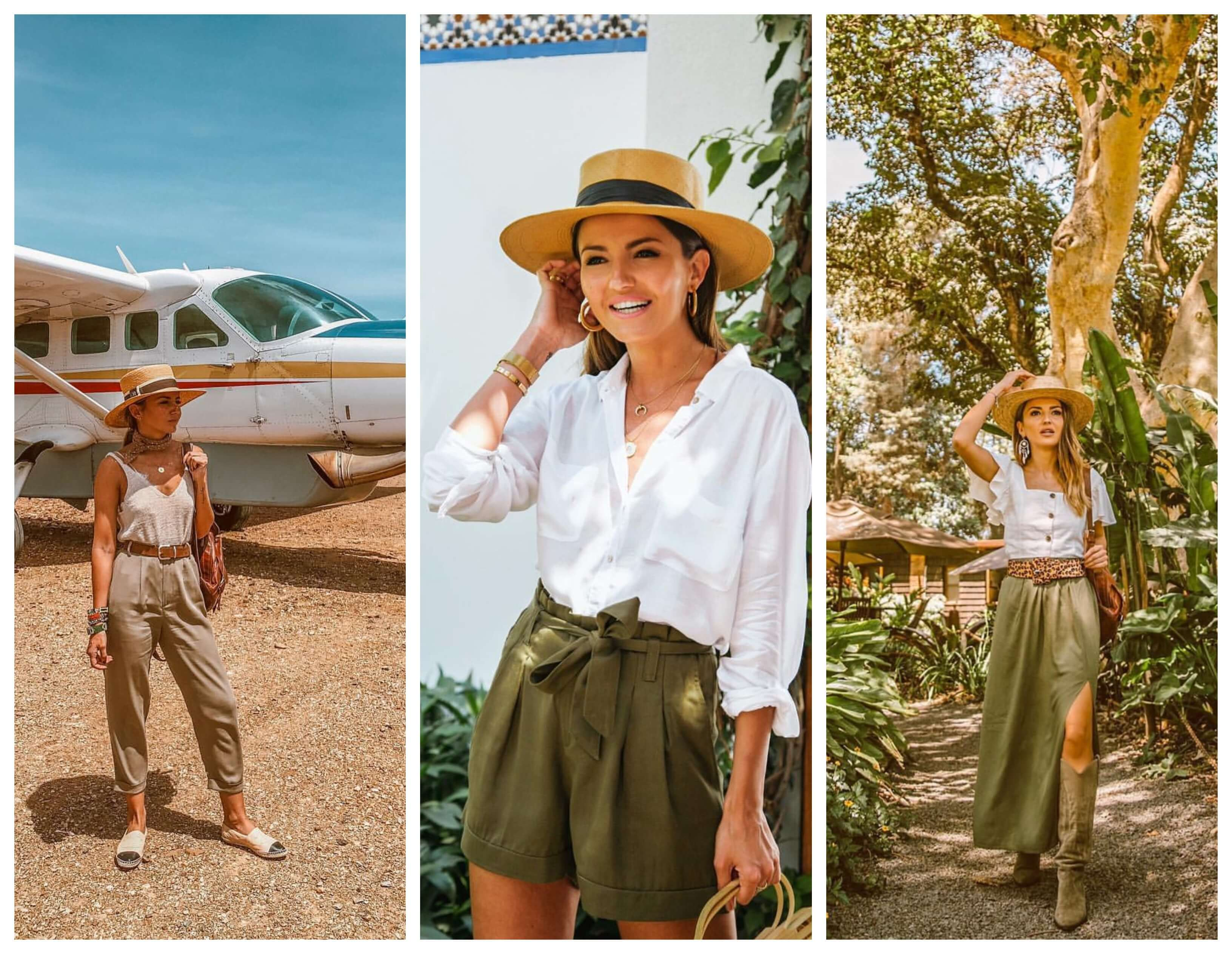 Estilo safari, 3 looks.