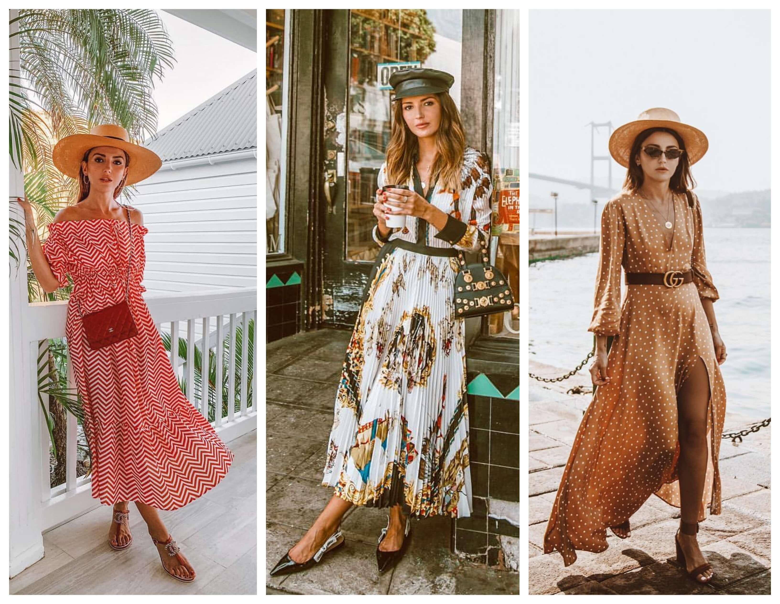Look con vestidos con aires bohemios.