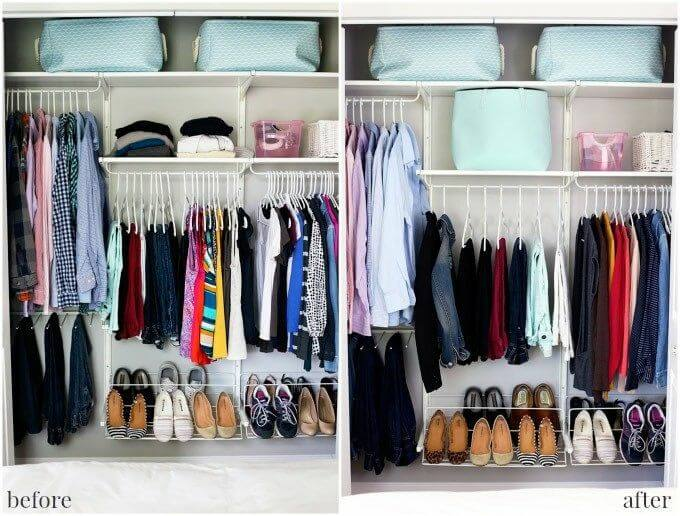 Trucos para ordenar el armario: dividir la ropa según su parecido