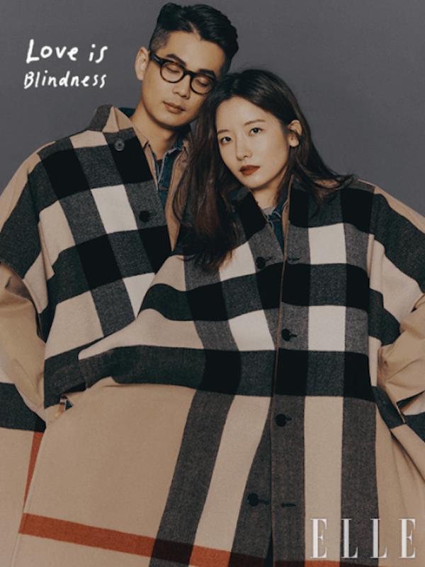 Moda coreana: estampado de cuadros grandes.