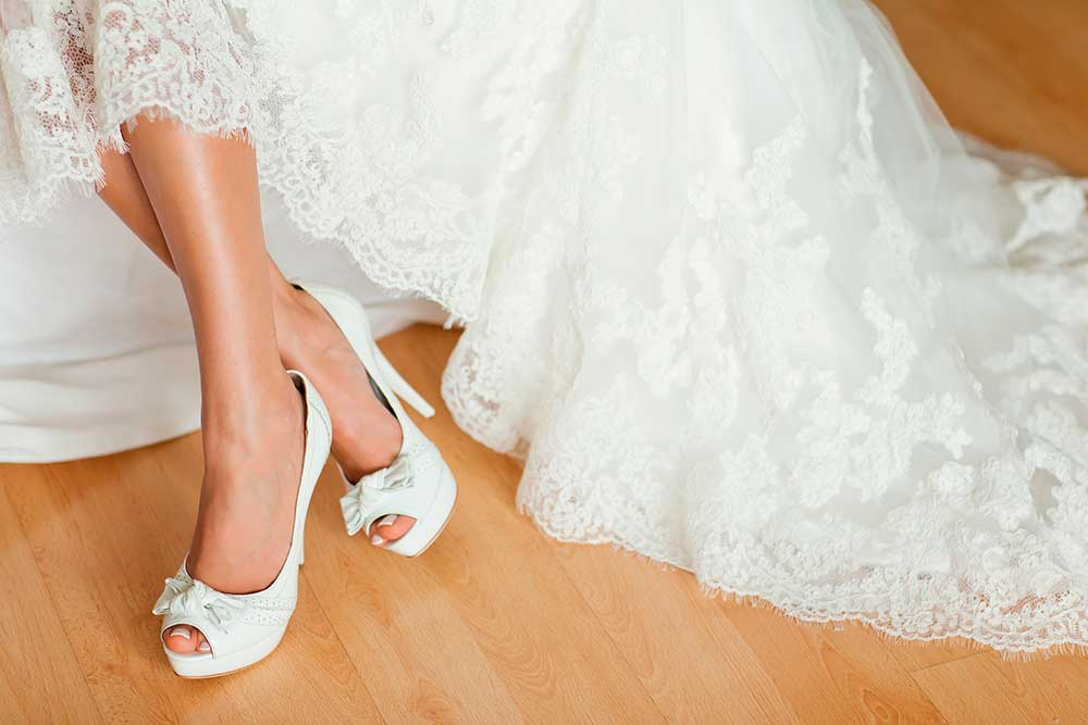 Peep toes, el calzado perfecto para un evento nupcial.