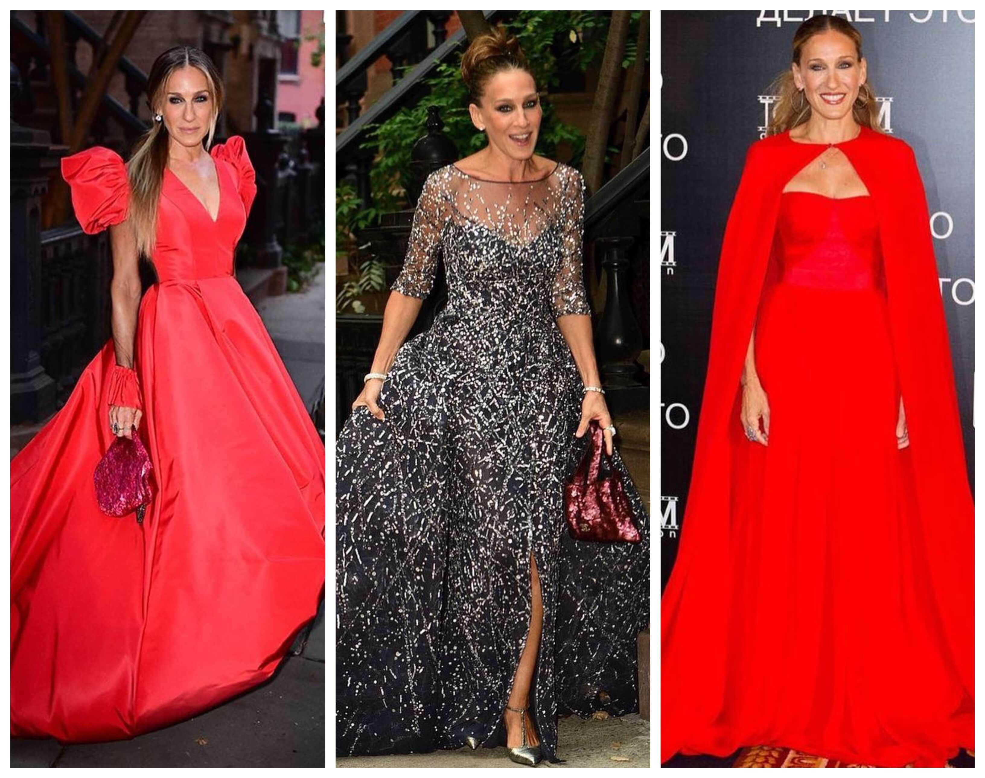 A la actriz le lucen los vestidos de gala con mucho volumen.