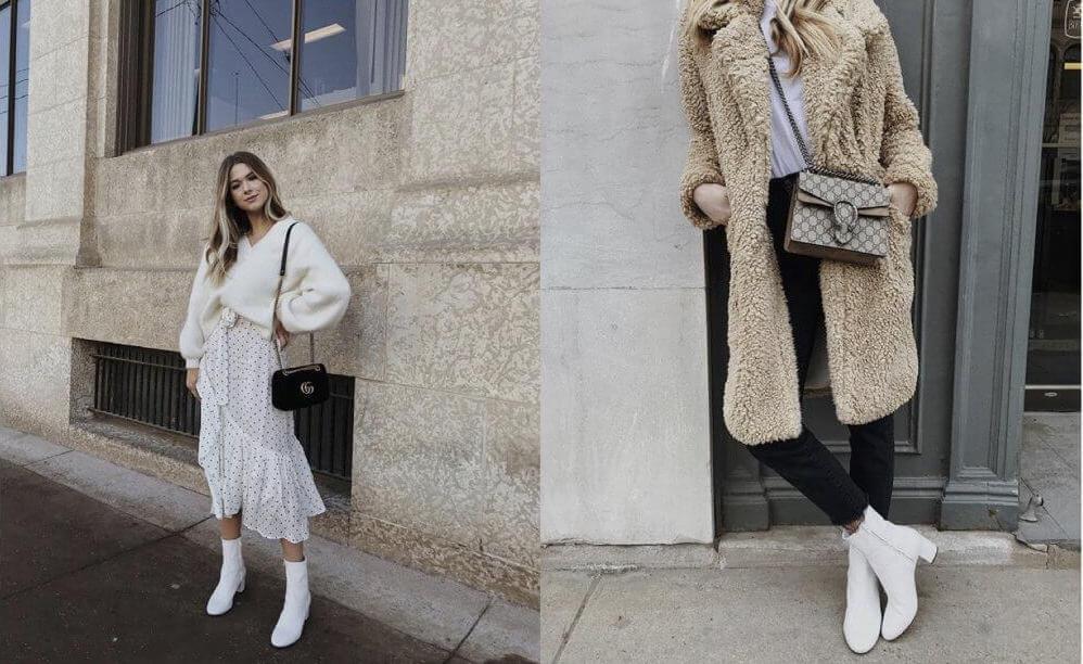 Sophie Sucan look con botas blancas
