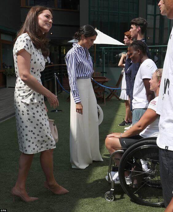 Kate Middleton y Meghan Markle en Wimbledon