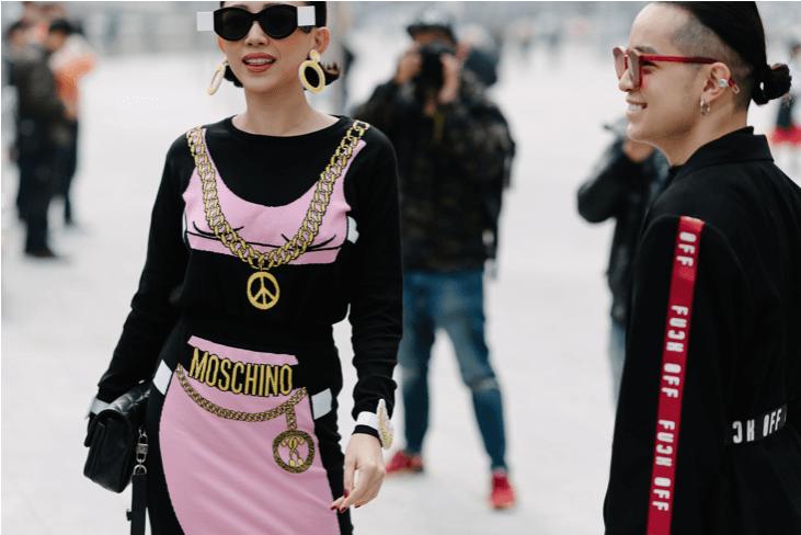 Street style en la semana de la moda de Seoul.