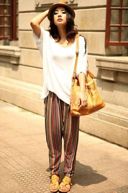 TIpos de pantalones | Look bohemio