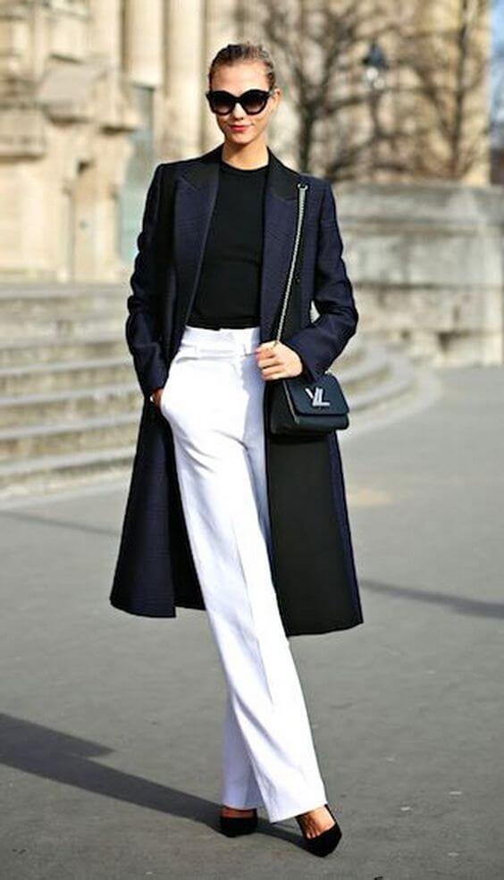 Look en blanco y negro.