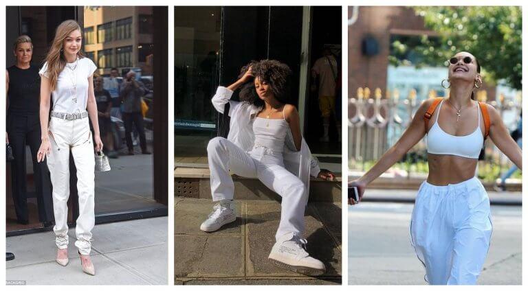 Pantalón blanco y blusa blanca: 9 inspiraciones