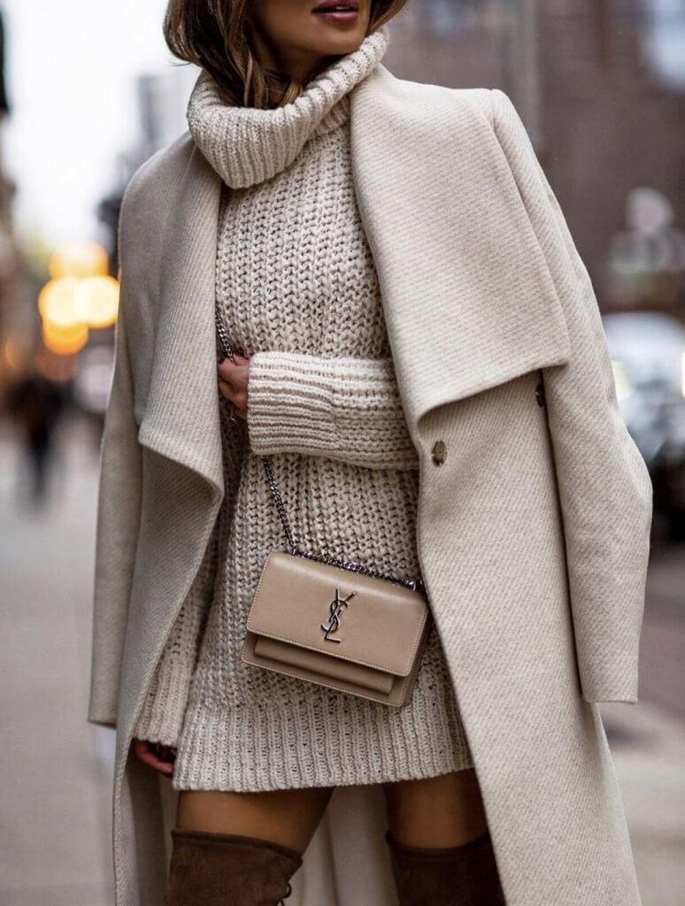 Cómo llevar un vestido en invierno sin pasar frío