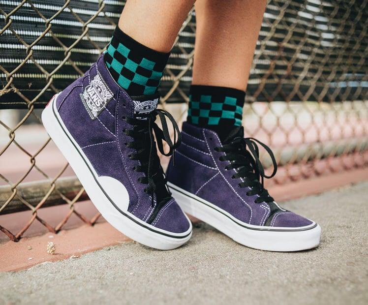 Zapatillas para skate marca Vans.