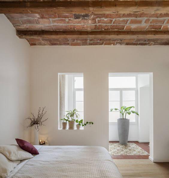 Habitación Hygge con madera y blanco