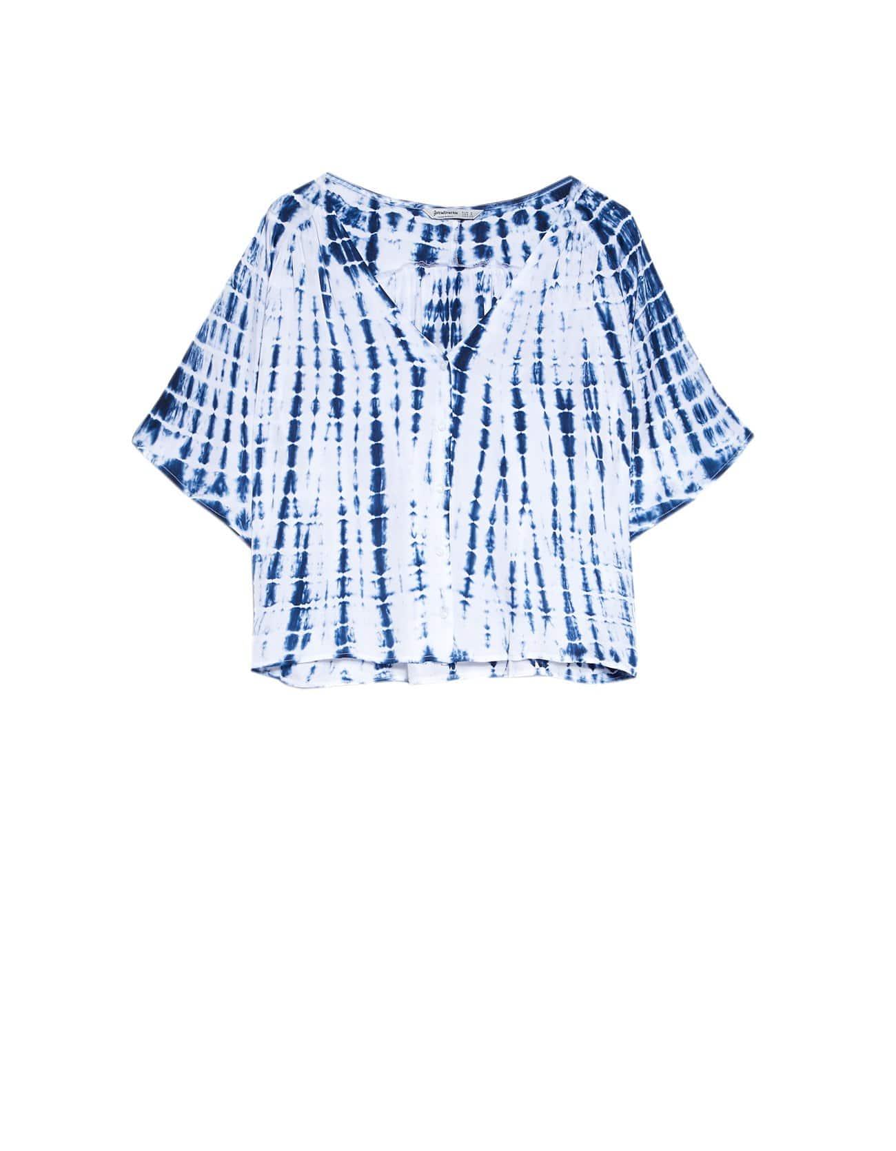 blusa azul tie dye