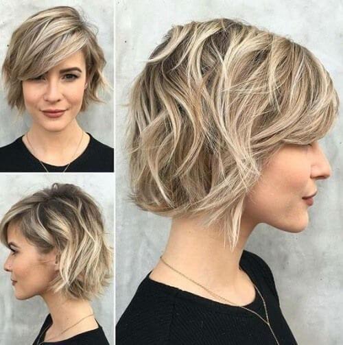 Los peinados cortos lucen más voluminosos.