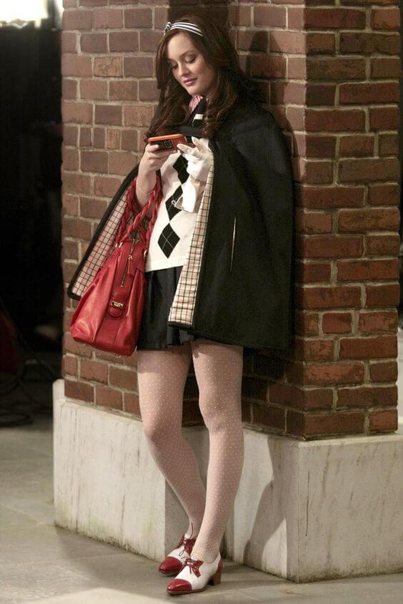 Leighton Meester en su papel de Blair Waldorf en Gossip Girl .