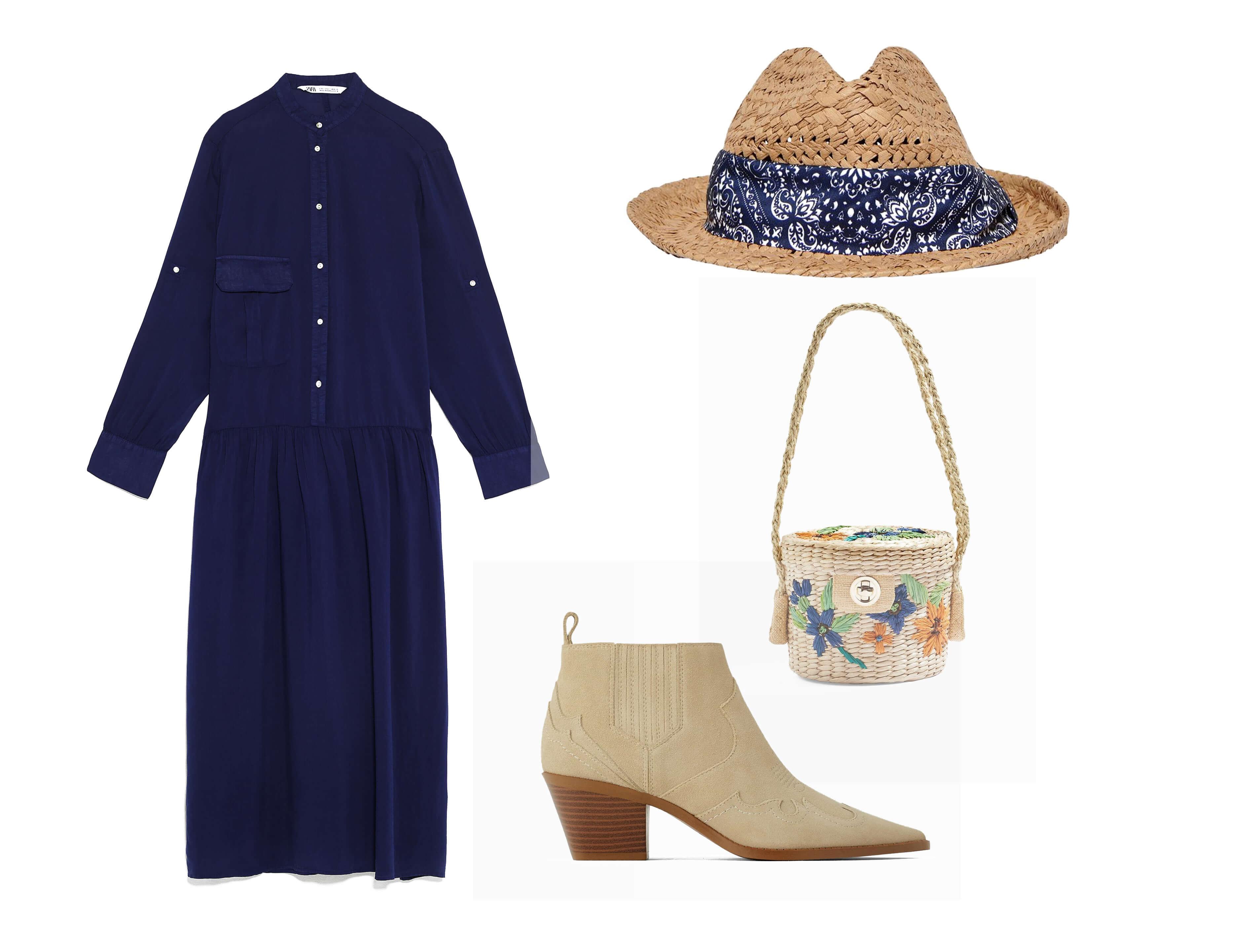 3er look para mujer de 30 años de vestido y botines.