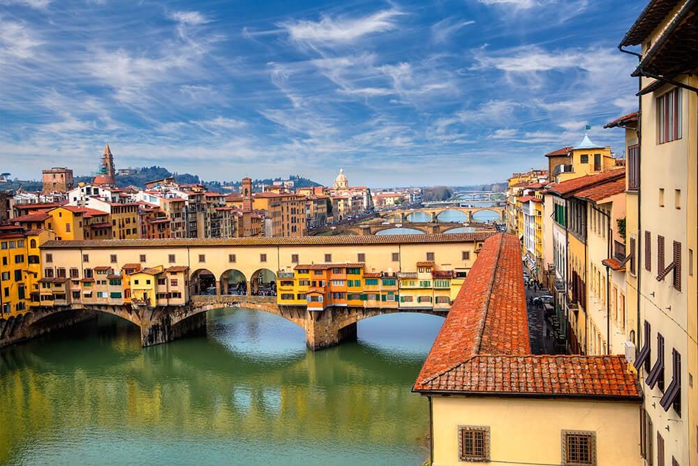 Florencia, una ciudad de la región de la Toscana.