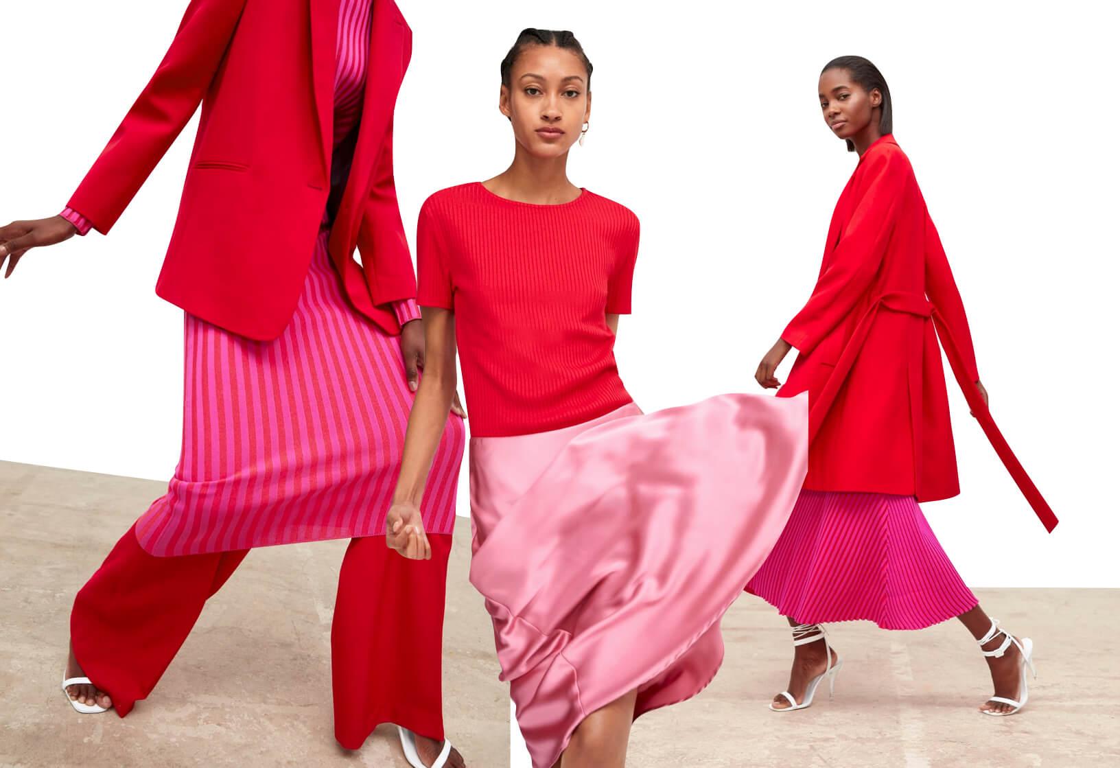 Combinación rosa y rojo - Zara