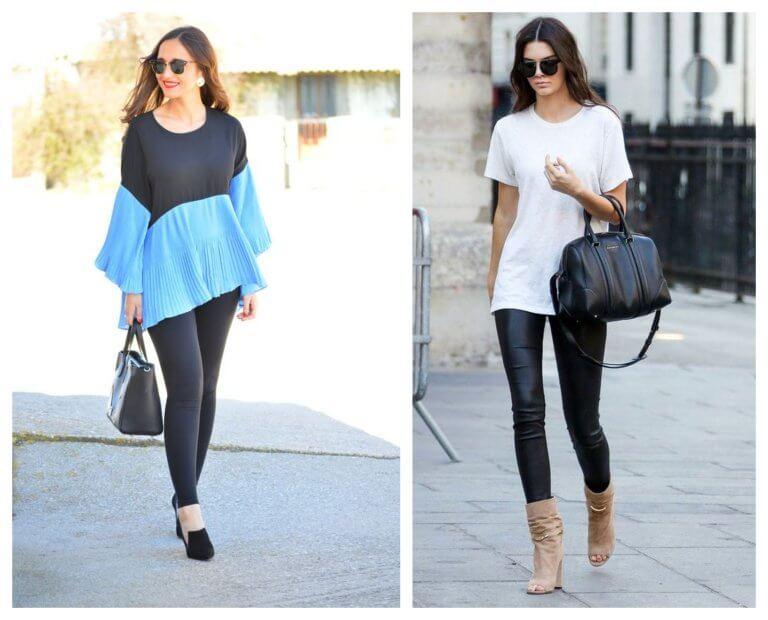 ¿Cómo llevar leggins negros y con qué combinarlos?