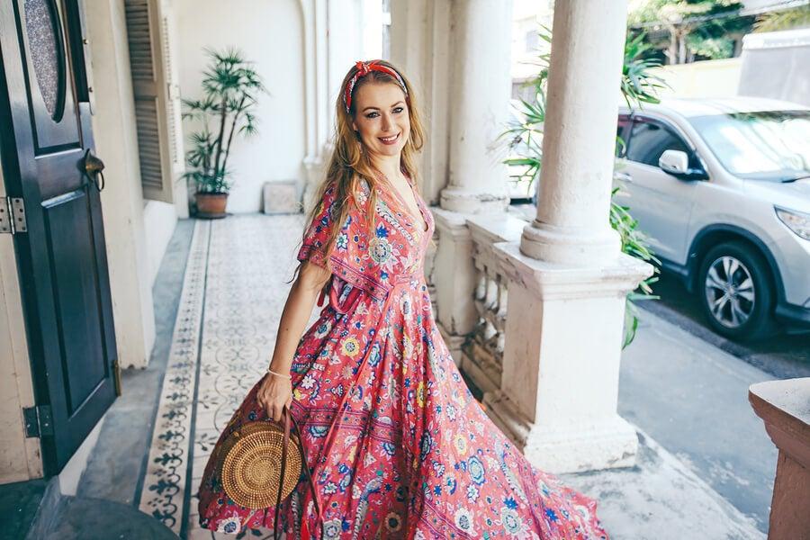 Un vestido boho y 3 formas de llevarlo